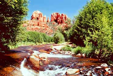 Rushing River of the Red Rocks